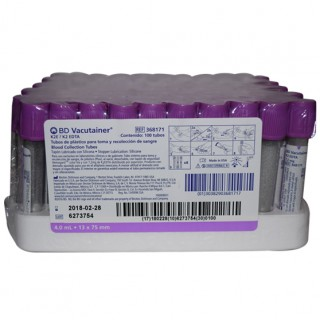 Tubo Vacutainer Lila 4mL