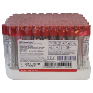 Tubo Vacutainer Rojo 6mL