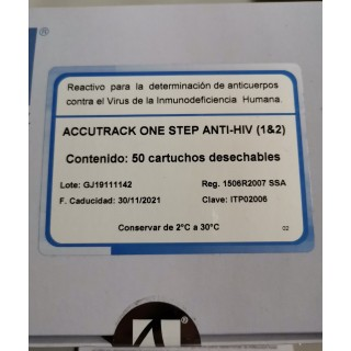 Anti HIV 1&2. Cassette. Accutrack